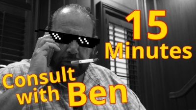 Consult with Ben 15 minutes